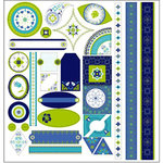 TaDa Creative Studios - Whirly Gig Collection - 12 x 12 Die Cut Paper - Tag-a-ma-jigs, CLEARANCE