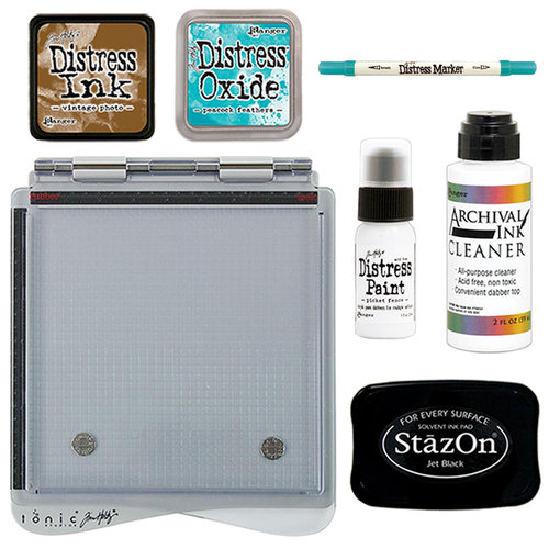 Tim Holtz - Stamp Platform, Distress Marker and Distress Ink - Creativity Kit