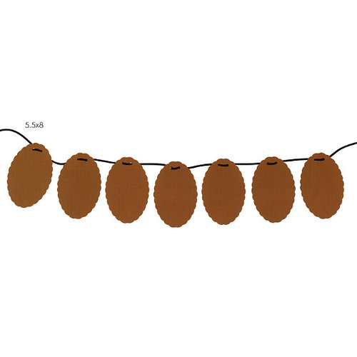 Tinkering Ink - Chipboard Garland - 7.5 x 6 Oval, CLEARANCE