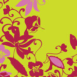 Tinkering Ink - Perfectly Posh Collection - 12x12 Double Sided Paper - Prim Petals Pomegranate , CLEARANCE