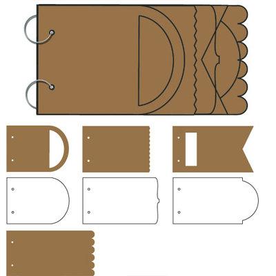 Tinkering Ink - Peekaboo Album - 6x12 Chipboard and Acrylic Album - Graduated, CLEARANCE
