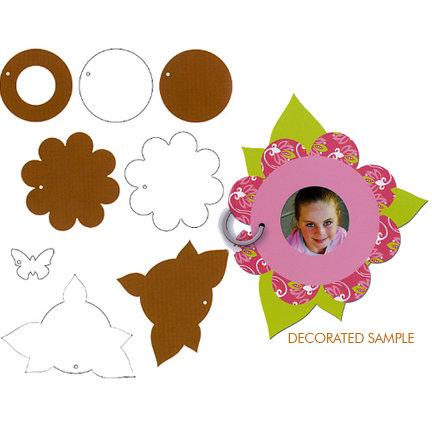 Tinkering Ink - Peekaboo Album - Chipboard and Acrylic Album - Flower