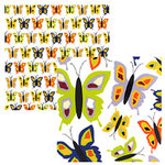 Tinkering Ink - Beau Jardin Collection - 12 x 12 Double Sided Paper - Papillon