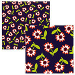 Tinkering Ink - Beau Jardin Collection - 12 x 12 Double Sided Paper - Fleur, CLEARANCE