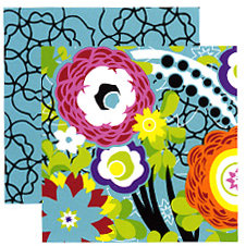 Tinkering Ink - Retro Metro Collection - 12 x 12 Double Sided Paper - Lola, CLEARANCE