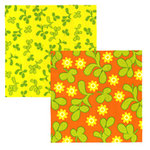 Tinkering Ink - Retro Metro Collection - 12 x 12 Double Sided Paper - Flossie, CLEARANCE