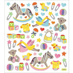 Sticker King - Clear Stickers with Foil Accents - The Stork Arrives