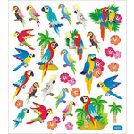 Sticker King - Clear Stickers with Foil Accents - Parrots