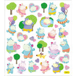 Sticker King - Clear Stickers with Foil Accents - Hippo Time