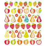Sticker King - Cardstock Stickers with Foil Accents - Patterned Fruit