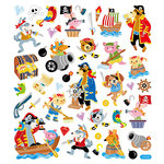 Sticker King - Clear Stickers with Foil Accents - Animal Pirates
