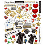 Sticker King - Cardstock Stickers with Foil Accents - Graduation
