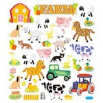 Sticker King - Clear Stickers with Foil Accents- Farm