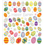 Sticker King - Clear Stickers with Glitter Accents - Happy Easter Eggs