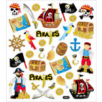 Sticker King - Clear Stickers - Glitter Pirates