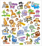 Sticker King - Clear Stickers with Glitter Accents - Alpha Words