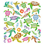 Sticker King - Clear Stickers with Glitter Accents - Sea Turtles