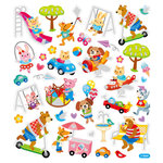 Sticker King - Clear Stickers with Glitter Accents - Animals at Play