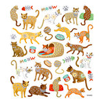 Sticker King - Cardstock Stickers with Glitter Accents - Cats Meow