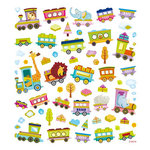 Sticker King - Cardstock Stickers with Glitter Accents - Animal Train