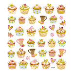 Sticker King - Cardstock Stickers with Glitter Accents - Tea Time