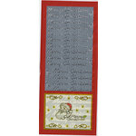 Sticker King - Cardstock Stickers - Merry Christmas Words in Silver