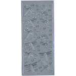 Sticker King - Cardstock Stickers - Dragon Flies in Silver