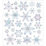 Sticker King - Cardstock Stickers - Silver and White Snowflakes