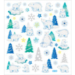 Sticker King - Clear Stickers - Glitter Polar Bears
