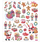 Sticker King - Cardstock Stickers - Ole Fashion Christmas