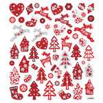 Sticker King - Clear Stickers - Glitter Scandinavian Christmas