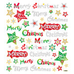Sticker King - Clear Stickers - Glitter Christmas Words