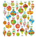 Sticker King - Clear Stickers - Christmas - Glitter Bulbs