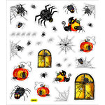 Sticker King - Clear Stickers - Halloween - Spiders