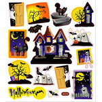 Sticker King - Clear Stickers - Haunted House