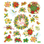 Sticker King - Clear Stickers - Merry Christmas Wreathe