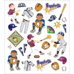 Sticker King - Clear Stickers - Baseball