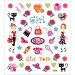 Sticker King - Clear Stickers - Girl Talk