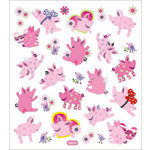 Sticker King - Clear Stickers - Pigs at Play
