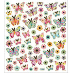 Sticker King - Cardstock Stickers - Pastel Butterflies