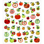 Sticker King - Cardstock Stickers - Honey Bees and Apples