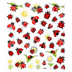 Sticker King - Cardstock Stickers - Lady Bugs and Sunflowers