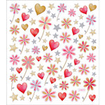 Sticker King - Cardstock Stickers - Hearts and Flowers