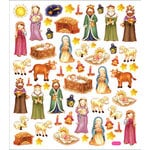 Sticker King - Clear Stickers - Nativity Scene