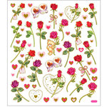 Sticker King - Clear Stickers - Long Stemmed Roses and Bear