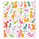 Sticker King - Clear Stickers - Flower Kittys