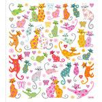 Sticker King - Clear Stickers - Flower Kittys