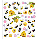 Sticker King - Clear Stickers - Spring Bees and Hives