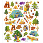 Sticker King - Cardstock Stickers - Camping Trip