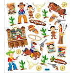 Sticker King - Clear Stickers - Cowboys and Indians